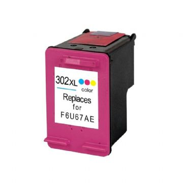 HP 302XL New Refurbished High Capacity Tri-Colour Ink Cartridge - (F6U67AE)